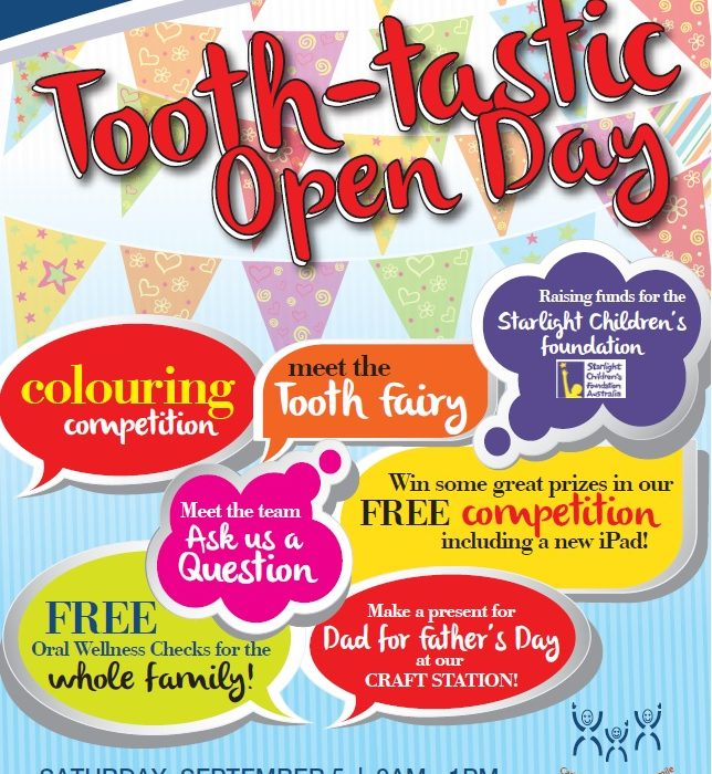 DUNCRAIG DENTAL CARE'S TOOTH TASTIC OPEN DAY IS COMING!!!